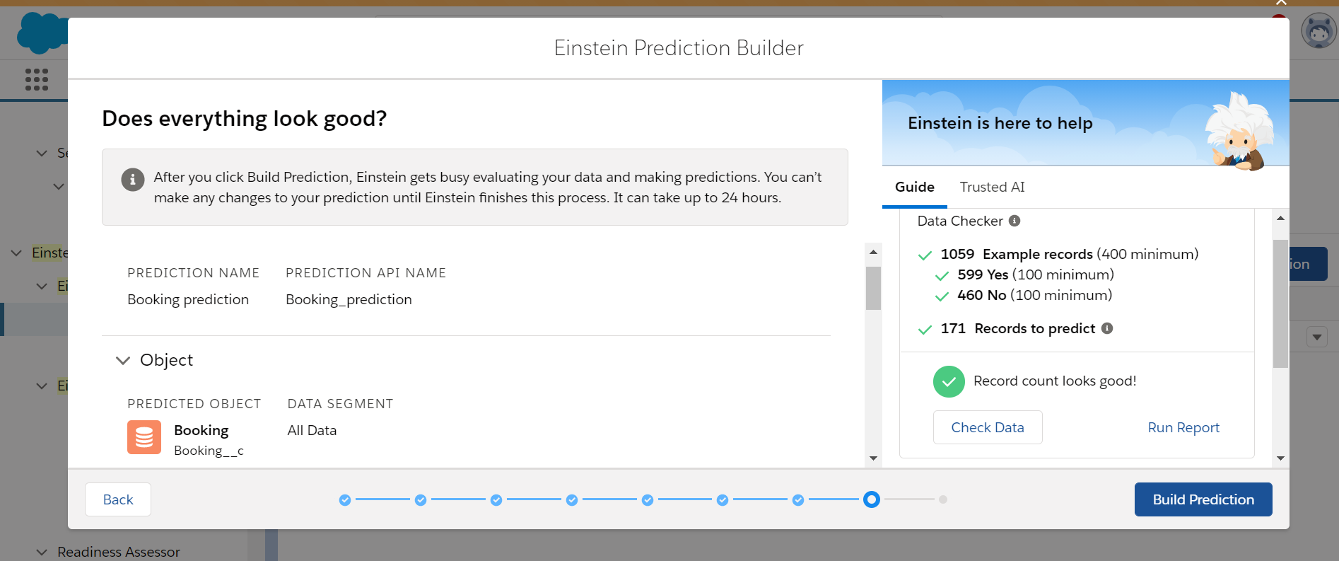 Einstein Prediction Builder